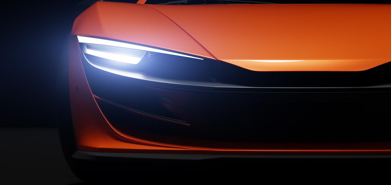 Dettaglio macchina con carrozzeria arancione - Carrozzeria Eporediese